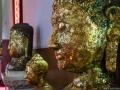 Vergoldete Buddha-Statuen