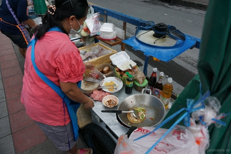 Frischer Wok in Bangkok