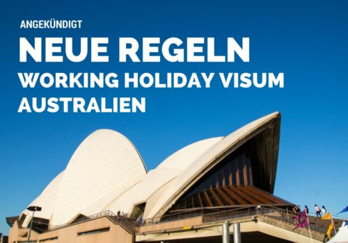 Working Holiay Visum Australien