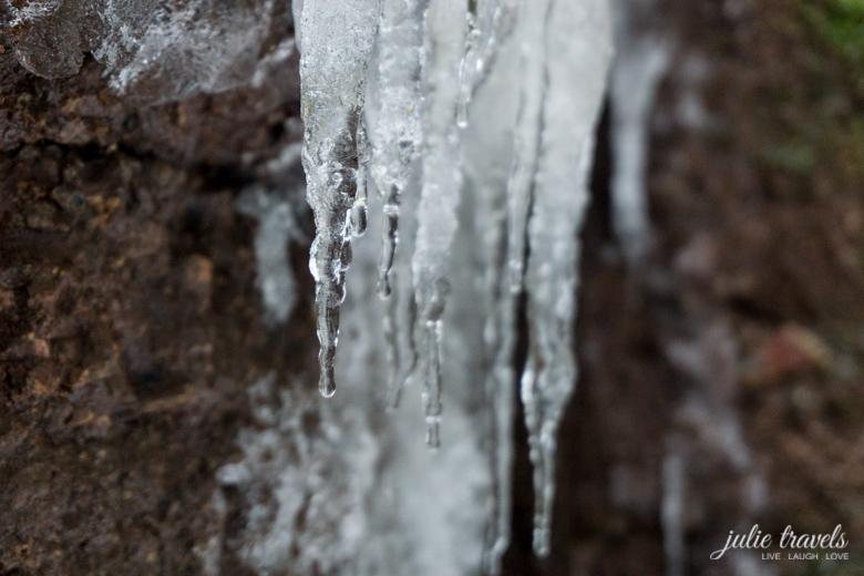 Drachenschlucht Eiszapfen
