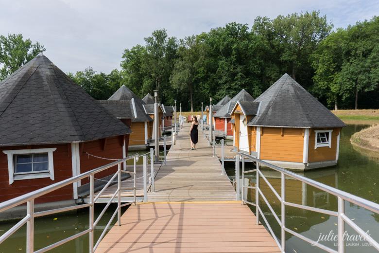 Die schwimmenden Hütten in Eberstedt