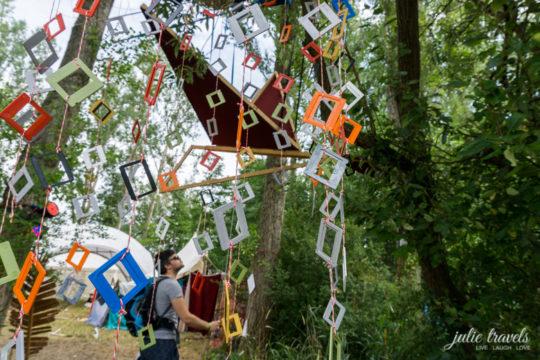 Künstlerische Gestaltung auf dem Auerworld Festival