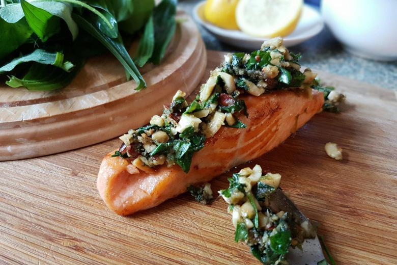 Karinas Kräuterkruste auf Fisch