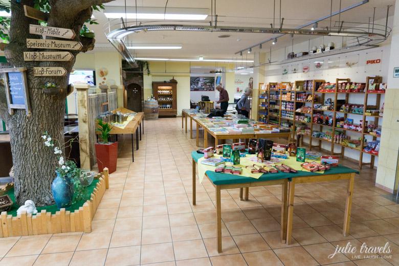 Der Verkaufsraum in der Thüringer Kloß-Welt