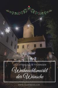 Der Burghof der Leuchtenburg mit Weihnachtsmarkt