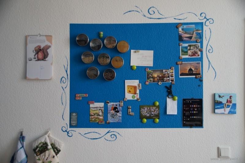 diy magnetwand in der k che julie travels. Black Bedroom Furniture Sets. Home Design Ideas
